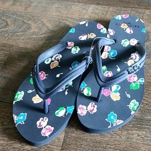 ✨NWT Coach Clementine navy Flip Flops size 8B